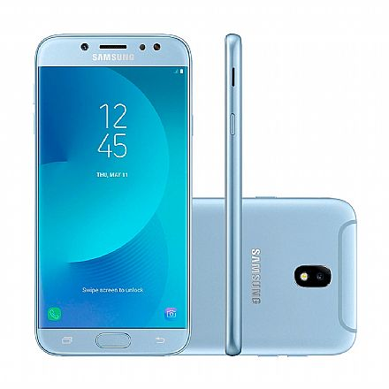 "Smartphone Samsung Galaxy J7 PRO - Tela 5.5"" Full HD, Octa Core, 64GB, Dual Chip, 13MP, Azul - SM-J730G/DS"