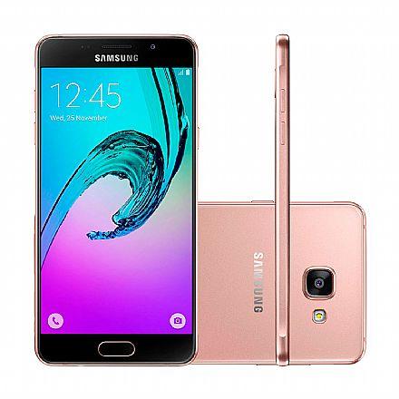 "Smartphone Samsung Galaxy A5 - Tela 5.2"" Full HD, Dual Chip, 16GB, Câmera 13MP - Rose - SM-A510M * Open Box"
