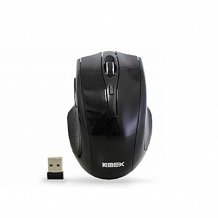 Mouse Gamer sem Fio K-Mex MAC233 - 1600dpi - 6 Botões - Preto