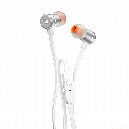 Fone de Ouvido Intra-Auricular JBL Tune 290 - com Microfone - Conector 3.5mm - Prata - JBLT290SIL