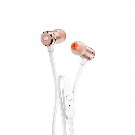 Fone de Ouvido Intra-Auricular JBL Tune 290 - com Microfone - Conector 3.5mm - Rose Gold - JBLT290RGD