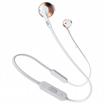 Fone de Ouvido Bluetooth Intra-Auricular JBL Tune 205BT - com Microfone - Rose Gold - JBLT205BTRGD