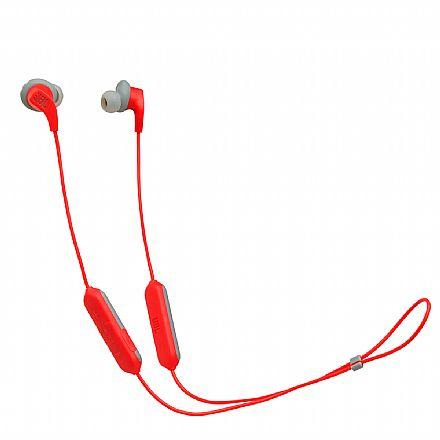 Fone de Ouvido Esportivo Bluetooth Intra-Auricular JBL Endurance RUNBT - com Microfone - Resistente a Suor - Vermelho - JBLENDURRUNBTRED