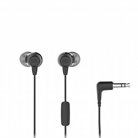 Fone de Ouvido Intra-Auricular JBL C50HI - com Microfone - Conector 3.5mm - Preto - JBLC50HIBLK