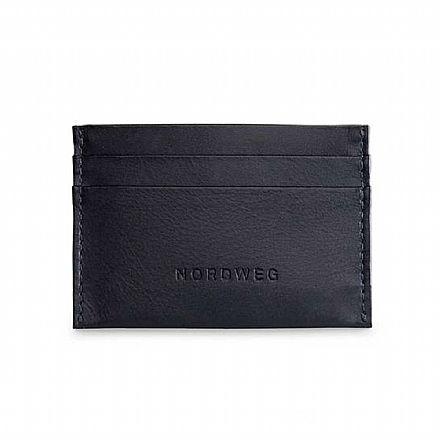 Carteira masculina em couro legítimo Nordweg Nômade - Porta Cartões - Italiano Preto - NW085-IP
