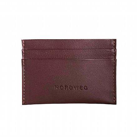 Carteira masculina em couro legítimo Nordweg Nômade - Porta Cartões - Italiano Café - NW085-IC