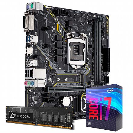 Kit Upgrade Intel® Core™ i7 9700KF + Asus TUF H310M PLUS GAMING/BR + Memória 8GB DDR4