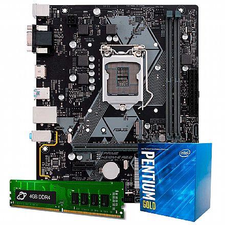 Kit Upgrade Intel® Pentium Gold® G5400 + Asus Prime H310M-E/BR + Memória 4GB DDR4