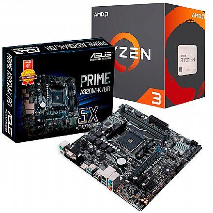 Kit Upgrade AMD Ryzen™ 3 3200G + Asus Prime A320M-K/BR