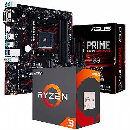 Kit Upgrade AMD Ryzen™ 3 3200G + Asus Prime B450M GAMING/BR