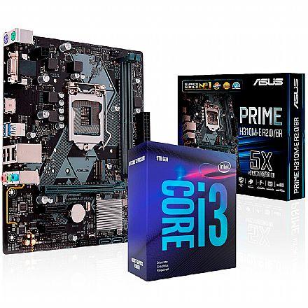 Kit Upgrade Intel® Core™ i3 9100F + Asus PRIME H310M-E/BR