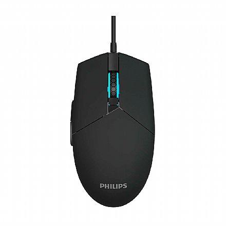 Mouse Gamer Philips SPK9304 - 2000dpi - com LED - 6 botões - SPK9304
