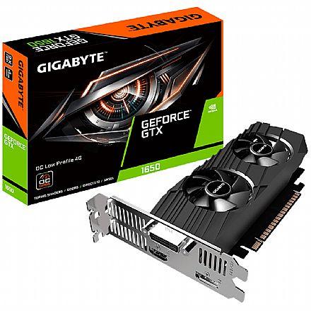 GeForce GTX 1650 4GB GDDR5 128bits - OC Low Profile - Gigabyte GV-N1650OC-4GL