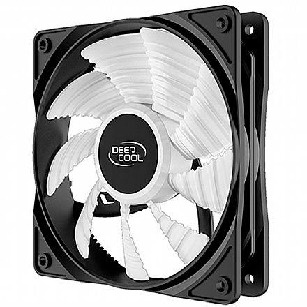 Cooler 120x120mm DeepCool RF120 - com LED Branco - DP-FLED-RF120-WH