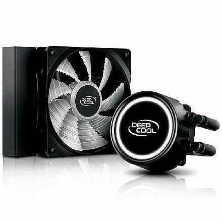 Water Cooler DeepCool Gammaxx L120T (AMD / Intel) - LED Branco - DP-H12RF-GL120TWH