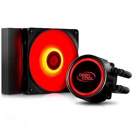 Water Cooler DeepCool Gammaxx L120T (AMD / Intel) - LED Vermelho - DP-H12RF-GL120TR