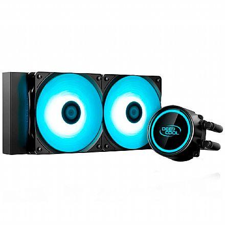 Water Cooler DeepCool Gammaxx L240T (AMD / Intel) - Anti-Leak - LED Azul - DP-H12RF-GL240TB
