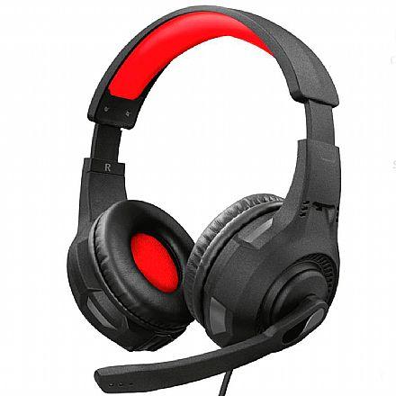 Headset Gamer Trust GXT 307 Ravu - com Controle de Volume - Conector P3 3.5mm + Adaptador 2 P2 3.5mm - Compatível com PC / PS5 / PS4 / Xbox Series X / Xbox One / Switch / Mobile - 22450