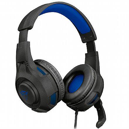 Headset Gamer Trust GXT 307B Ravu - com Controle de Volume - Conector P3 3.5mm + Adaptador 2 P2 3.5mm - Compatível com PC / PS5 / PS4 / Xbox Series X / Xbox One / Switch / Mobile - 23250