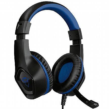 Headset Gamer Trust GXT 404B Rana - com Controle de Volume - Conector P3 3.5mm - PS5 / PS4 / Xbox Series X / Xbox One / Switch / Mobile - 23309