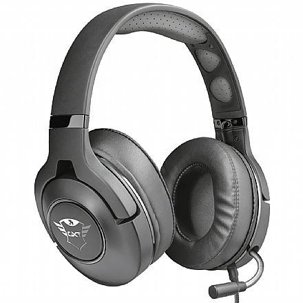 Headset Gamer Trust GXT 420 Rath - com Controle de Volume - Conector P3 3.5mm + Adaptador P2 3.5mm - Compatível com PC / PS5 / PS4 / Xbox Series X / Xbox One / Switch / Mobile - 22897
