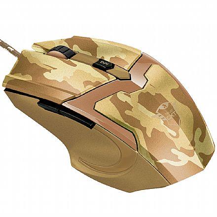 Mouse Gamer Trust GXT 101D Gav Desert Camo - 4800dpi - 6 Botões - 22794