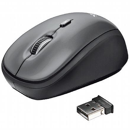 Mouse sem Fio Trust Yvi - 1600dpi - Preto - 18519
