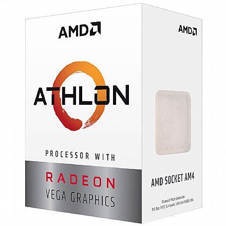 AMD Athlon 3000G Dual Core - 4 Threads - 3.5GHz - Cache 4MB - AM4 - TDP 35W - YD3000C6FBBOX