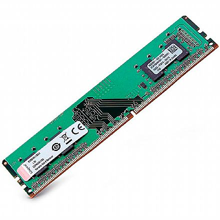 Memória 4GB DDR4 2400MHz Kingston - 1.2V - CL17 - KVR24N17S6/4