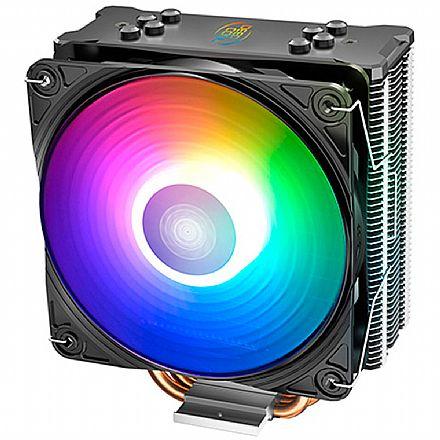 Cooler DeepCool Gammaxx GT A-RGB (AMD / Intel) - LED A-RGB - Hydro Bearing - DP-MCH4-GMX-GT-ARGB
