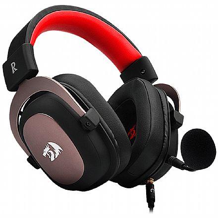 Headset Gamer Redragon Zeus 2 H510-1 - 7.1 Surround - com Controle de Volume e Microfone removível - Conector P2 - Compatível com PC / PS4 / PS3 / Xbox One / Switch
