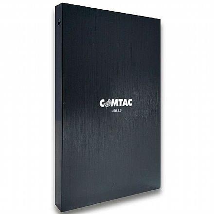 """Case para HD 2.5"""" Comtac - USB 3.0 - Corpo de Alumínio Escovado - 24119246"""