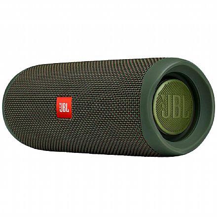 Caixa de Som Portátil JBL Flip 5 - Bluetooth - À Prova d`água - 20W RMS - Verde - JBLFLIP5GREN