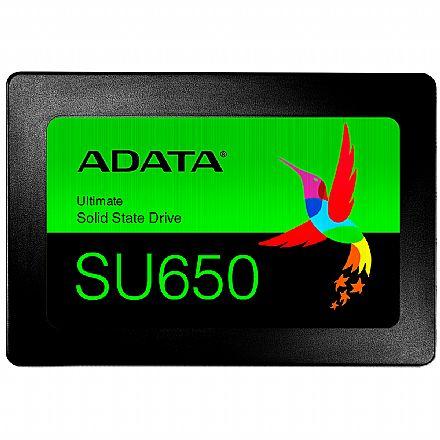SSD 240GB Adata SU650 - Leitura 520 MB/s - ASU650SS-240GT-R