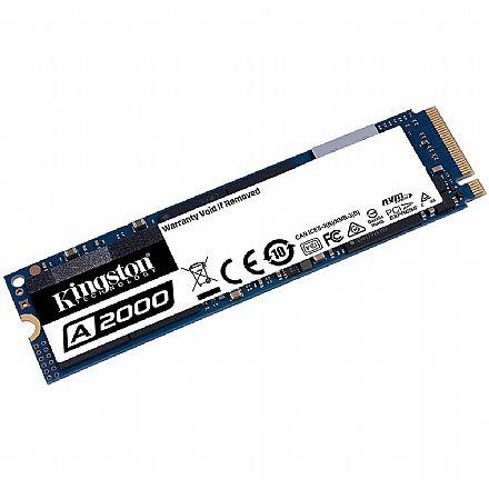 SSD M.2 250GB Kingston A2000 - NVMe - Leitura 2000 MB/s - SA2000M8/250G