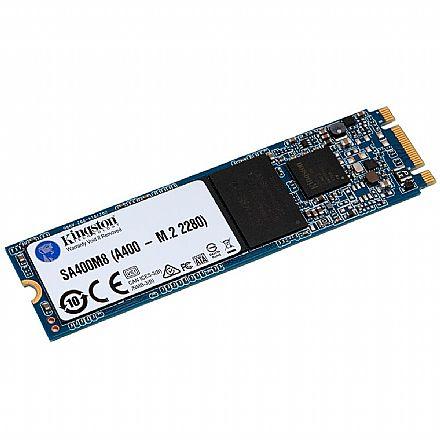 SSD M.2 240GB Kingston A400 - SATA - Leitura 500 MB/s - SA400M8/240G