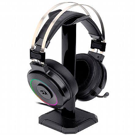 Headset Gamer Redragon Lamia2 H320-1 - Com Microfone - LED RGB - USB - Preto