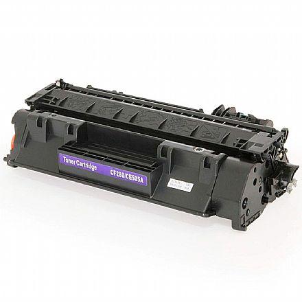 Toner compatível HP CE505A CF280A - LHCE505A - Para HP P2050, P2035, P2055, P2035N, P2055N, P2055X, P2055DN