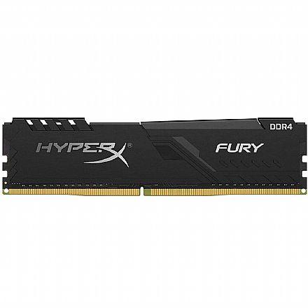 Memória 8GB DDR4 2666MHz HyperX Fury - 1.2V - CL16 - Preto - HX426C16FB3/8