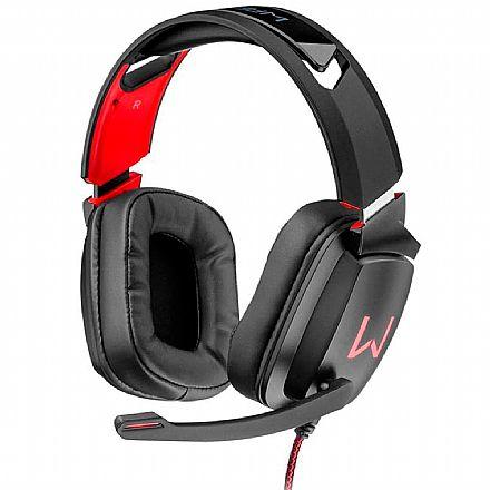 Headset Gamer Warrior Kaden PH301 - Com Microfone - Conector USB - Preto
