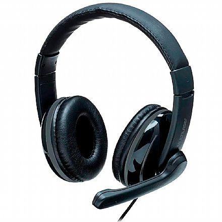 Headset Multilaser PRO PH316 - Com Microfone - Conector P2 / P3 - Preto