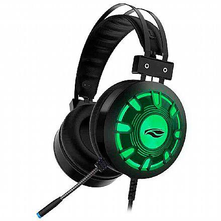Headset Gamer C3Tech Kestrel PH-G720BK - Com Microfone - Conector USB - Preto com LED RGB