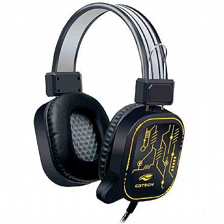Headset Gamer C3Tech Crane PH-G320BK - Com Microfone - Conector USB - Preto com LED RGB