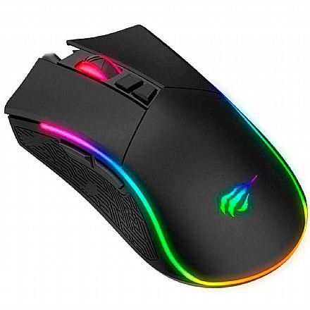 Mouse Gamer Havit MS1001 - 7200dpi - 7 Botões - RGB - HV-MS1001