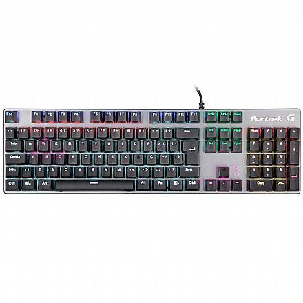 Teclado USB Gamer Mecânico Fortrek Black Hawk - USB - ABNT2 - LED RGB - Switch Mecânico KRGD Azul - 70548