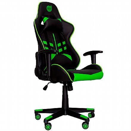 Cadeira Gamer Dazz Prime-X - Encosto Reclinável de 180° - Construção em Aço - 62000009 - Preto e Verde