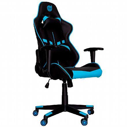 Cadeira Gamer Dazz Prime-X - Encosto Reclinável de 180° - Construção em Aço - 62000010 - Preto e Azul