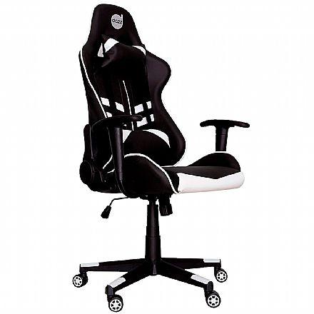 Cadeira Gamer Dazz Prime-X - Encosto Reclinável de 180° - Construção em Aço - 62000011 - Preto e Branco