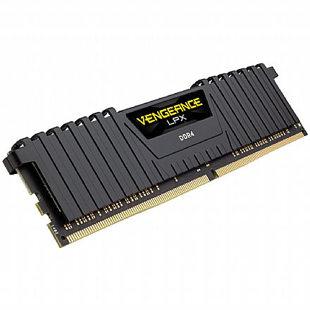 Memória 8GB DDR4 3000MHz Corsair Vengeance LPX - 1.35V - CL16 - CMK8GX4M1D3000C16