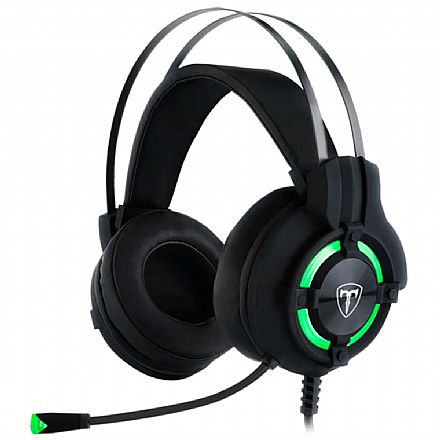 Headset Gamer T-Dagger Andes - LED - Conector USB e 3.5mm - com Microfone - T-RGH300